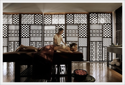 The health spa is an elegant haven of indulgence and relaxation.