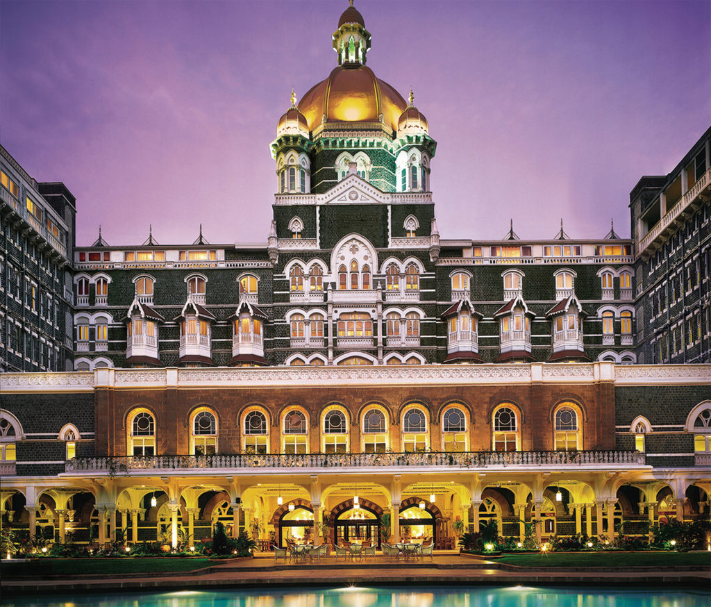 The Taj Mahal Palace Hotel.