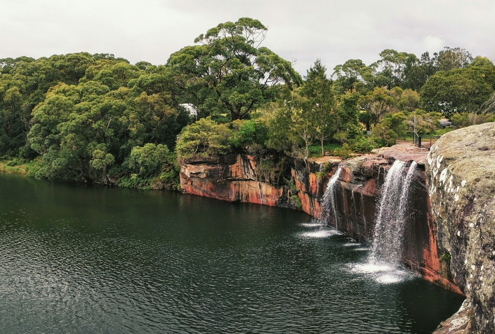 Shot of Wattamolla waterfall