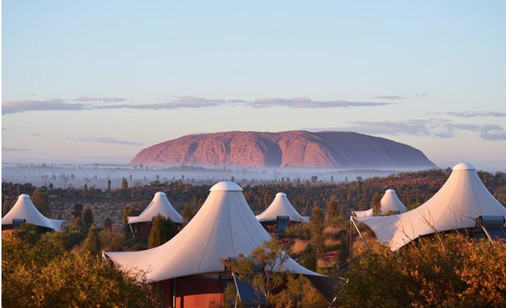 Luxury glamping in Uluru.