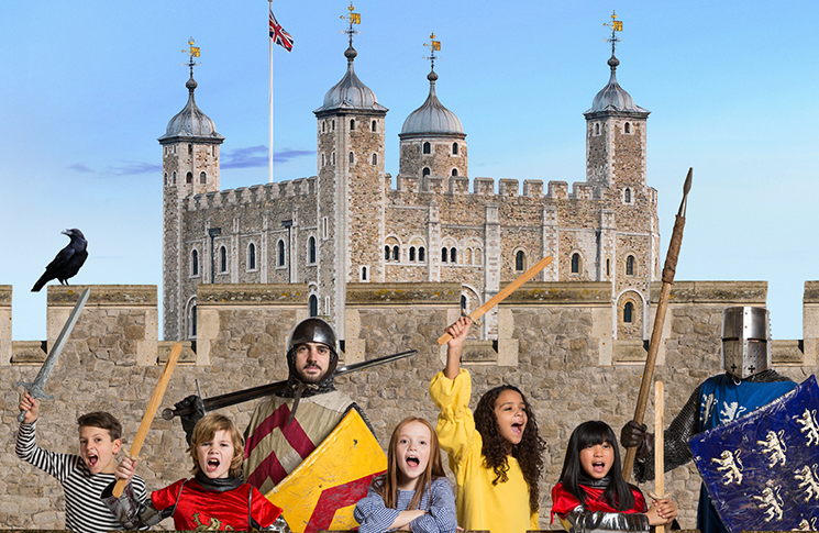 Tower of London Knight School for children, activities for kids