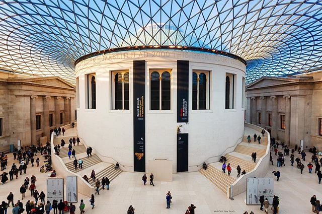 A stunnin gimage of architecture of the British Museum
