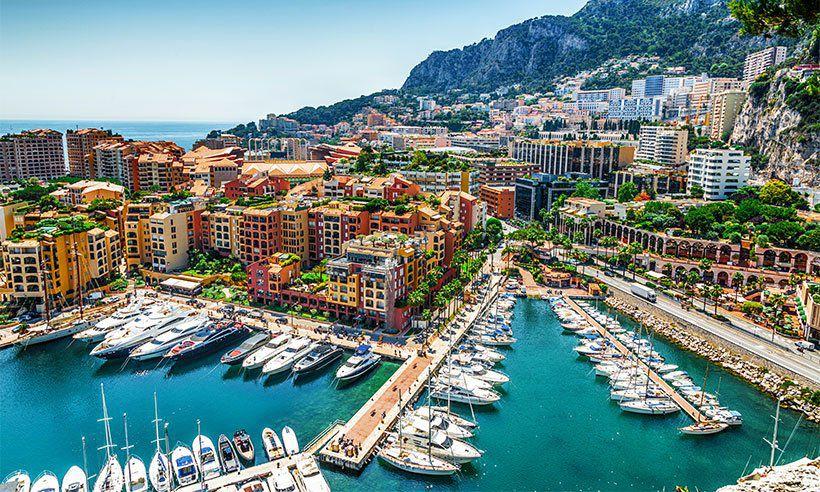 Aerial image of Monaco, Monte Carlo.