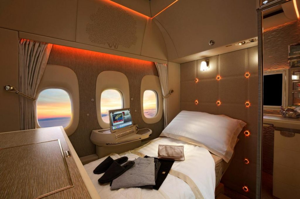 emirates 777 first class bed