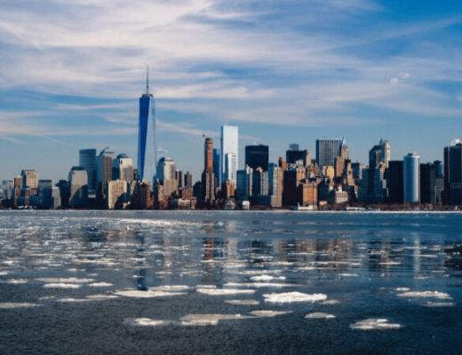 image of new york city skyline form the water