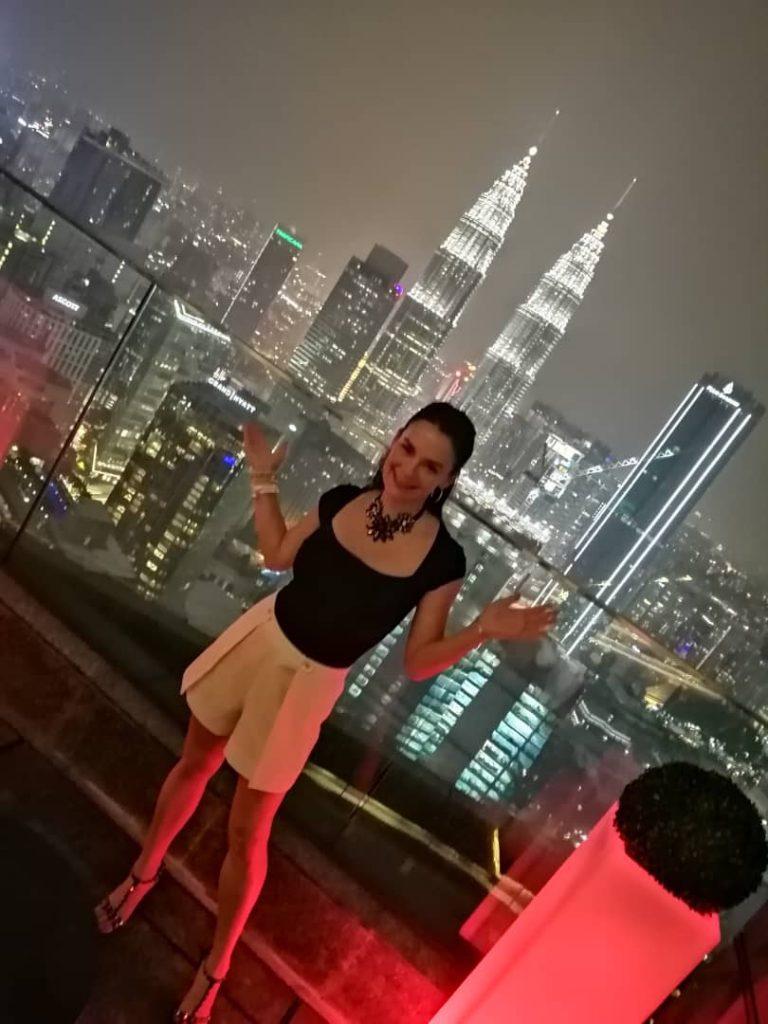 woman on rooftop in Kuala Lumpur, Malaysia