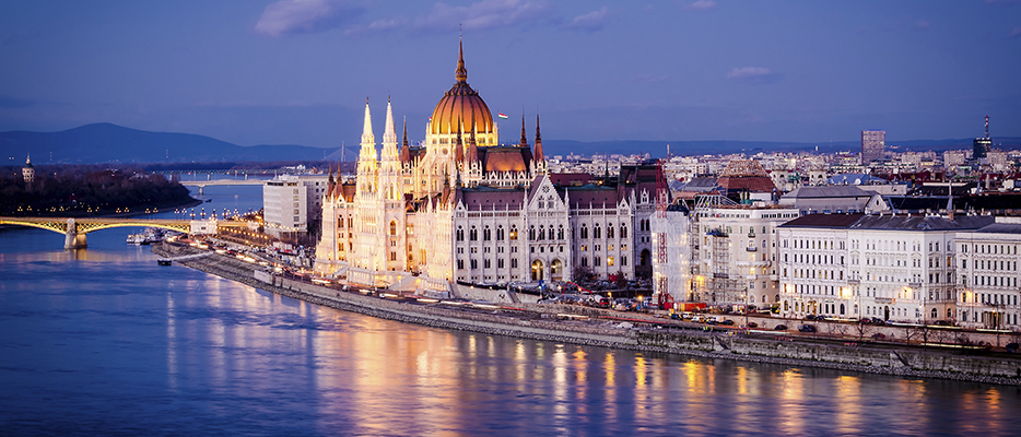 The city of Budapest on the water