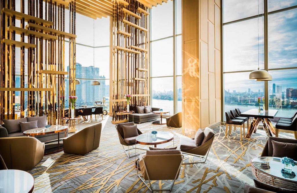luxury lobby of hotel, Bangkok