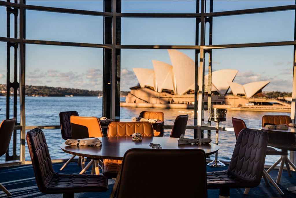 Quay Restaurant dining tables overlooking the Sydney Opera House