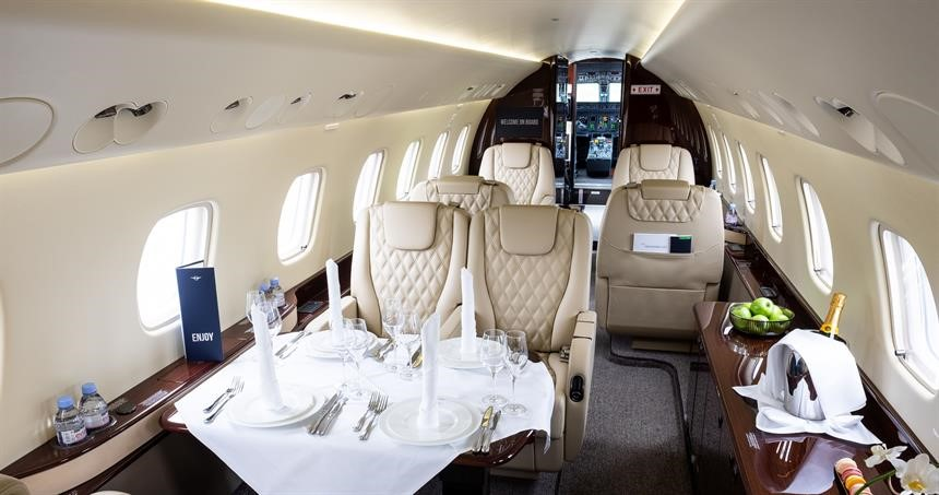 Interiors shot of Private jets from Ahoy Club, Double Bay
