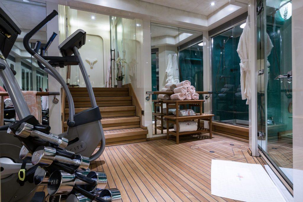 Fitness on the superyacht Mischief