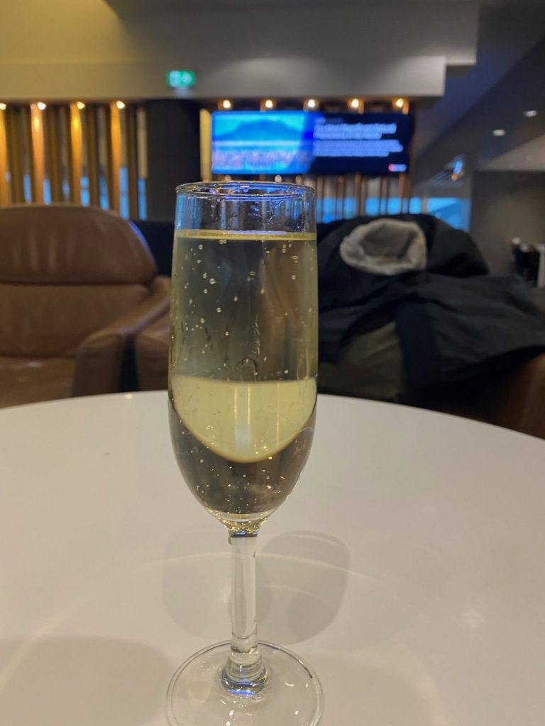 There is no booze on board Qantas domestic flights, so drink up at the airport lounges.