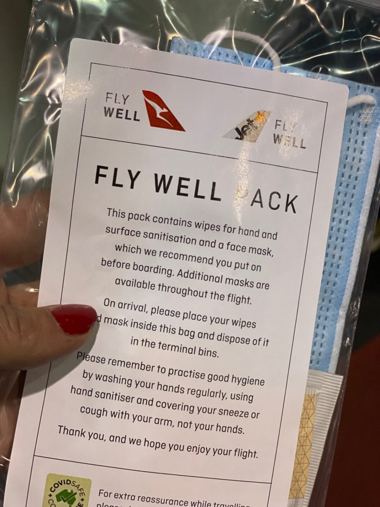 The Fly-Well Pack is now a part of every flight on Qantas.