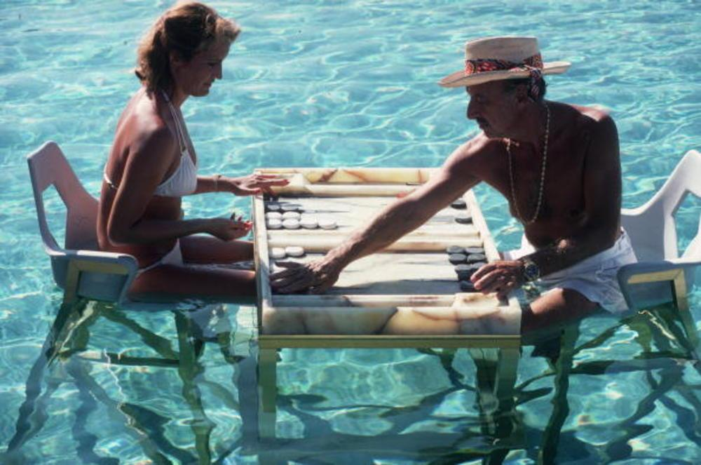 Poolside by Slim Aaarons, Image from P'interst and courtesy of Getty Images.