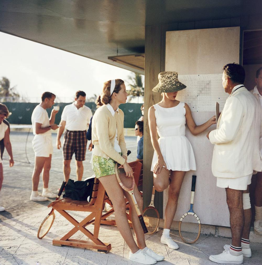 Tennis in the Bahamas by Slim Aaarons, Image from P'interst and courtesy of Getty Images.