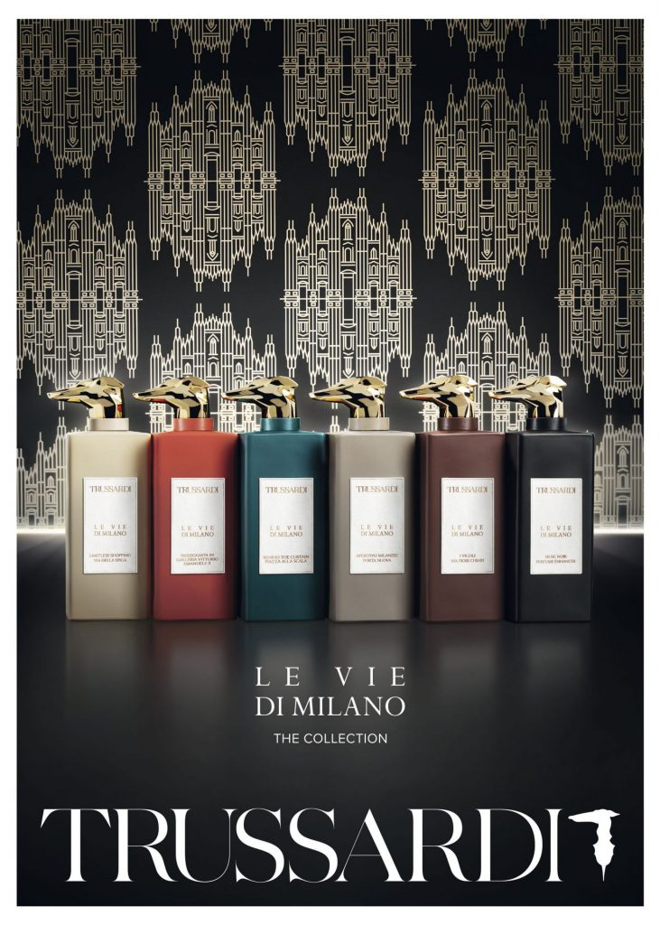 Trussardi have released a suite of six Rich, European fragrances evoking memories of Milan's sexiest locations through exquisite, lingering scents.