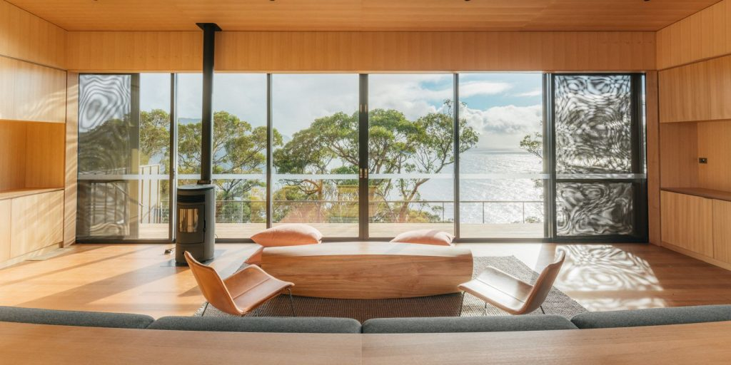 Three Capes walk cabin with a stunning view