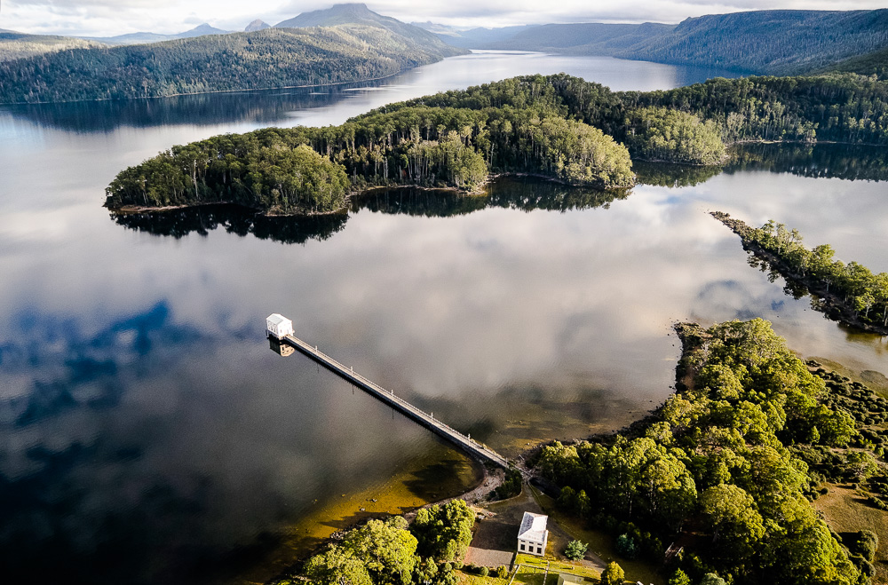 Pumphouse point in Tasmania