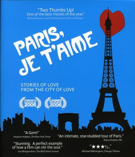 blue movie poster with Eiffel tower