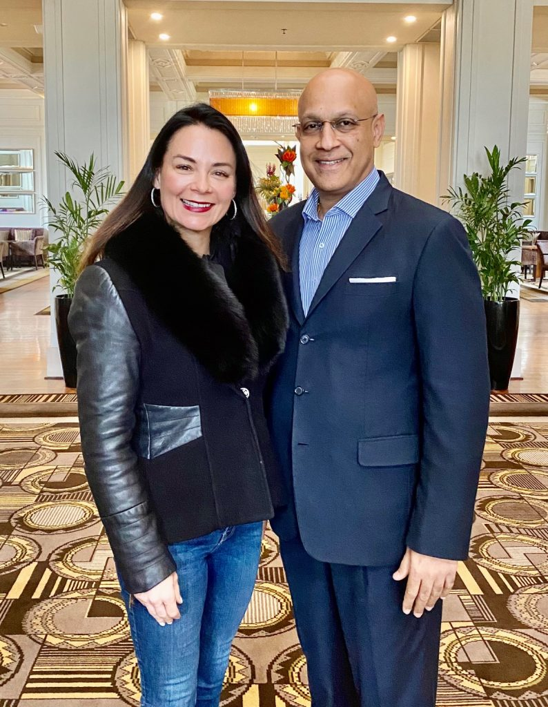 Renae with General Manager Fredrick Arul at The Park Hyatt, Canberra