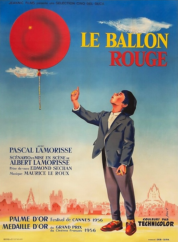 boy with a balloon on a movie poster