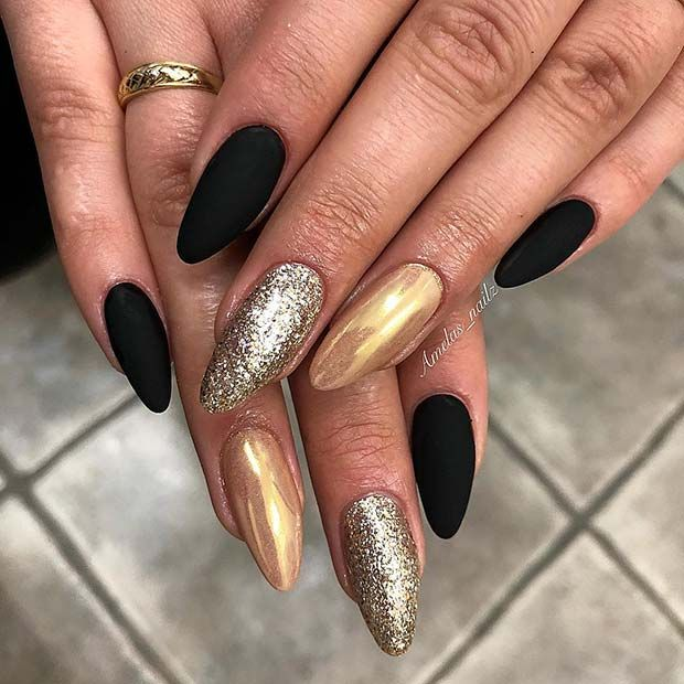 Bold & Glitzy nails