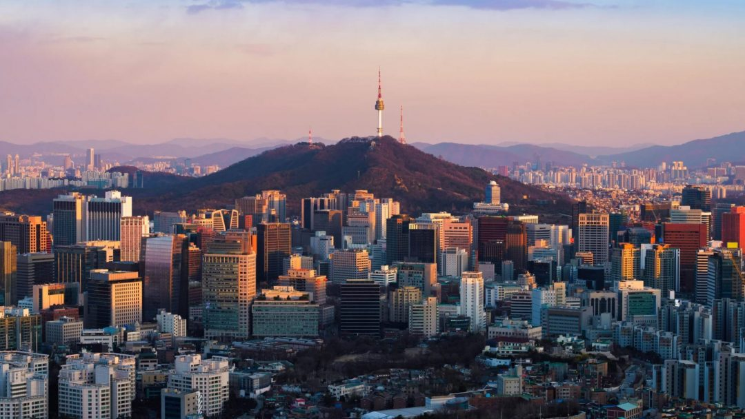 a landscape view of Seoul.