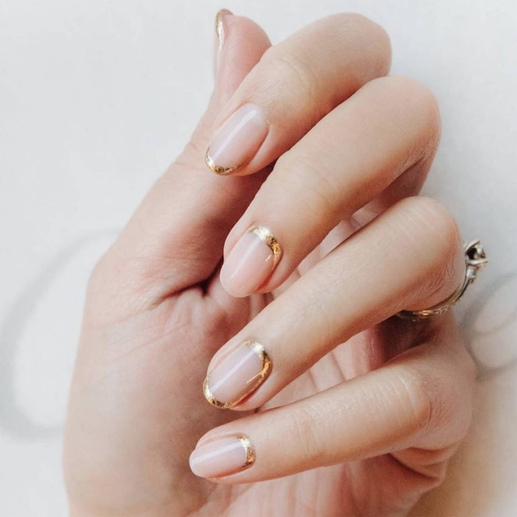 Traced Gold Tip Nails