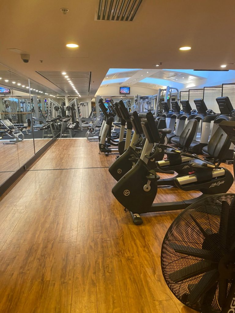 The gym at The Shangri-La Hotel Sydney is sensational. with new equipment.